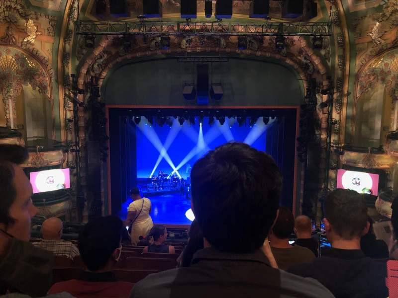 Seating view for New Amsterdam Theatre Section Mezzanine C Row JJ Seat 109