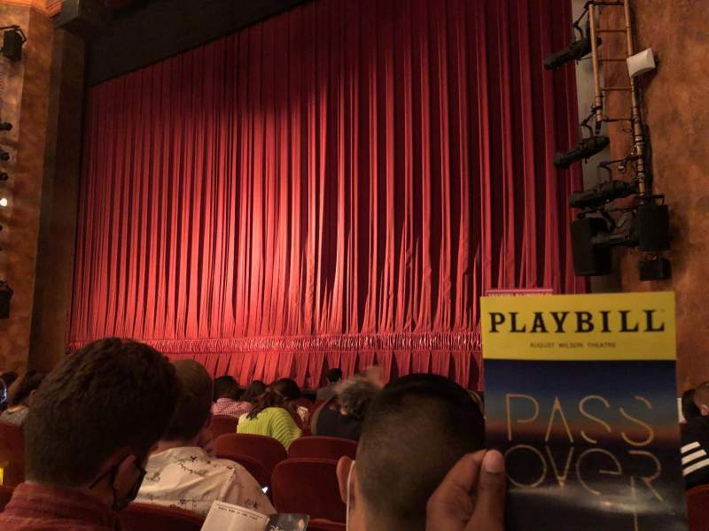 Seating view for August Wilson Theatre Section Orchestra R Row H Seat 12