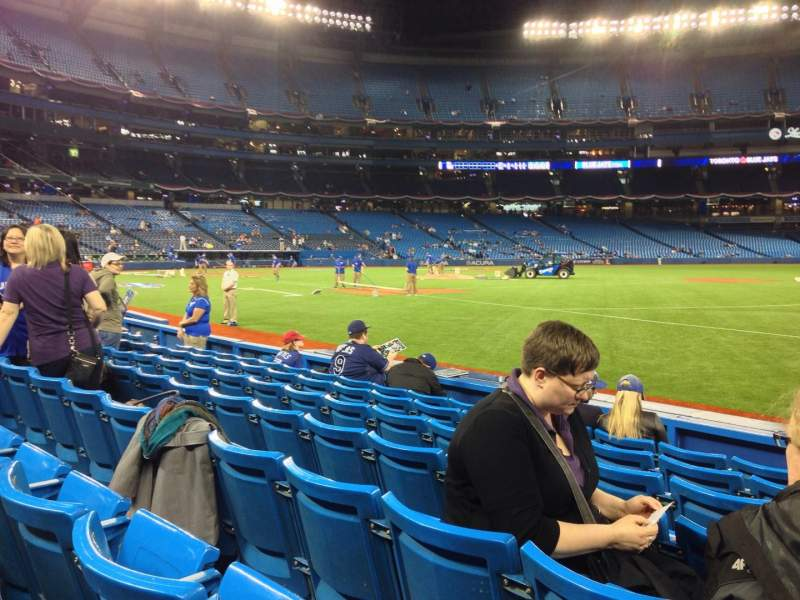 Seating view for Rogers Centre Section 113A Row 7 Seat 101