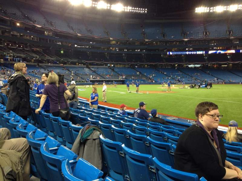 Seating view for Rogers Centre Section 113AL Row 6 Seat 101