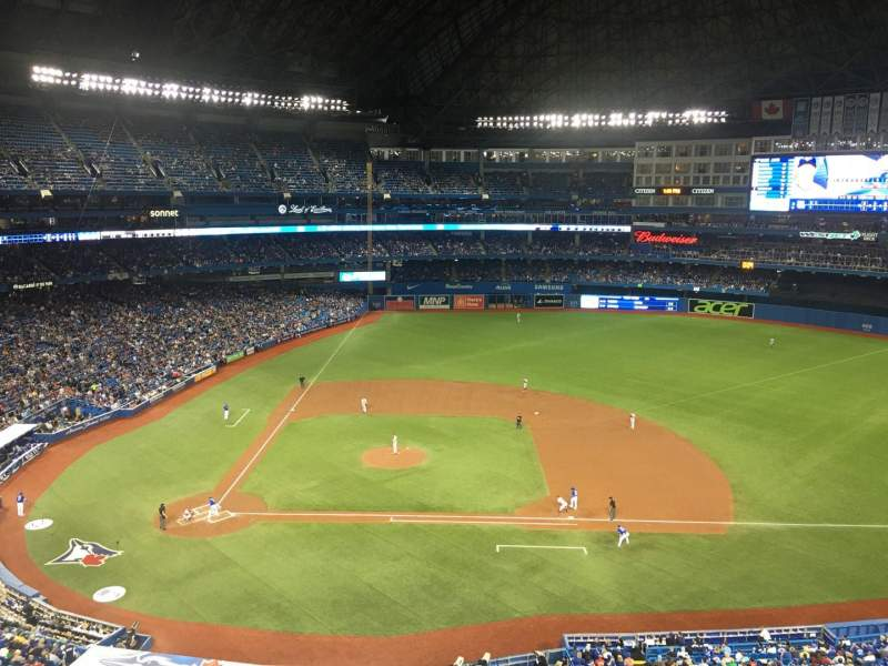 Seating view for Rogers Centre Section 519L Row 1 Seat 102
