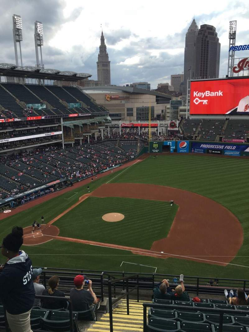 Progressive Field, section: 541, row: E, seat: 10