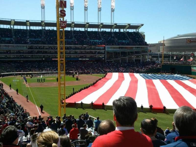 Progressive Field, section: 316, row: g, seat: 16
