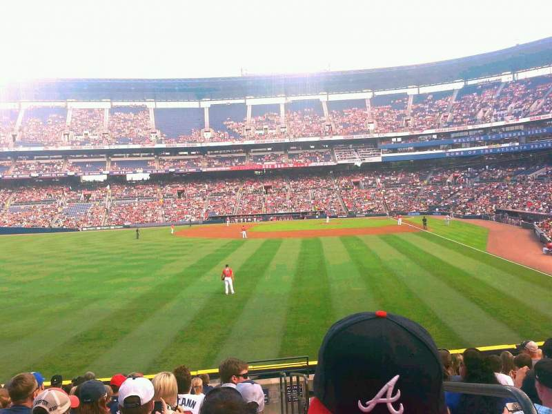 Seating view for Turner Field Section 136L Row 25 Seat 1