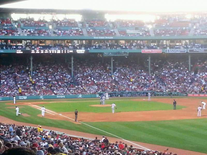 Seating view for Fenway Park Section Grandstand 7 Row 10 Seat 1