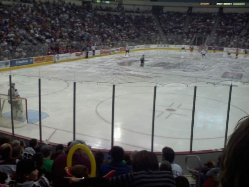 Seating view for Giant Center Section 102 Row k Seat 4
