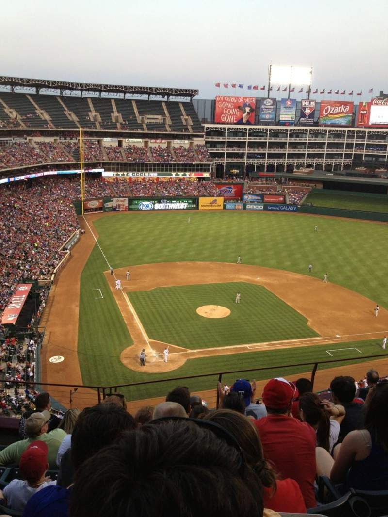 Seating view for Globe Life Park in Arlington Section 329 Row 8 Seat 11