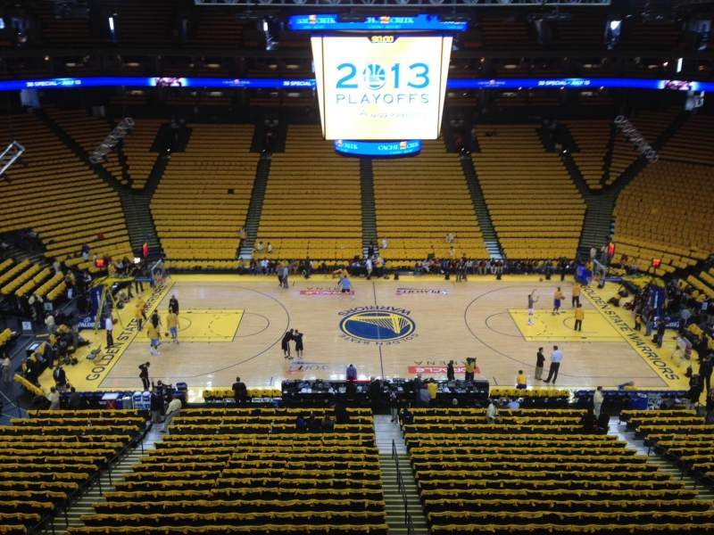Oracle Arena, section: 201, row: 1, seat: 1