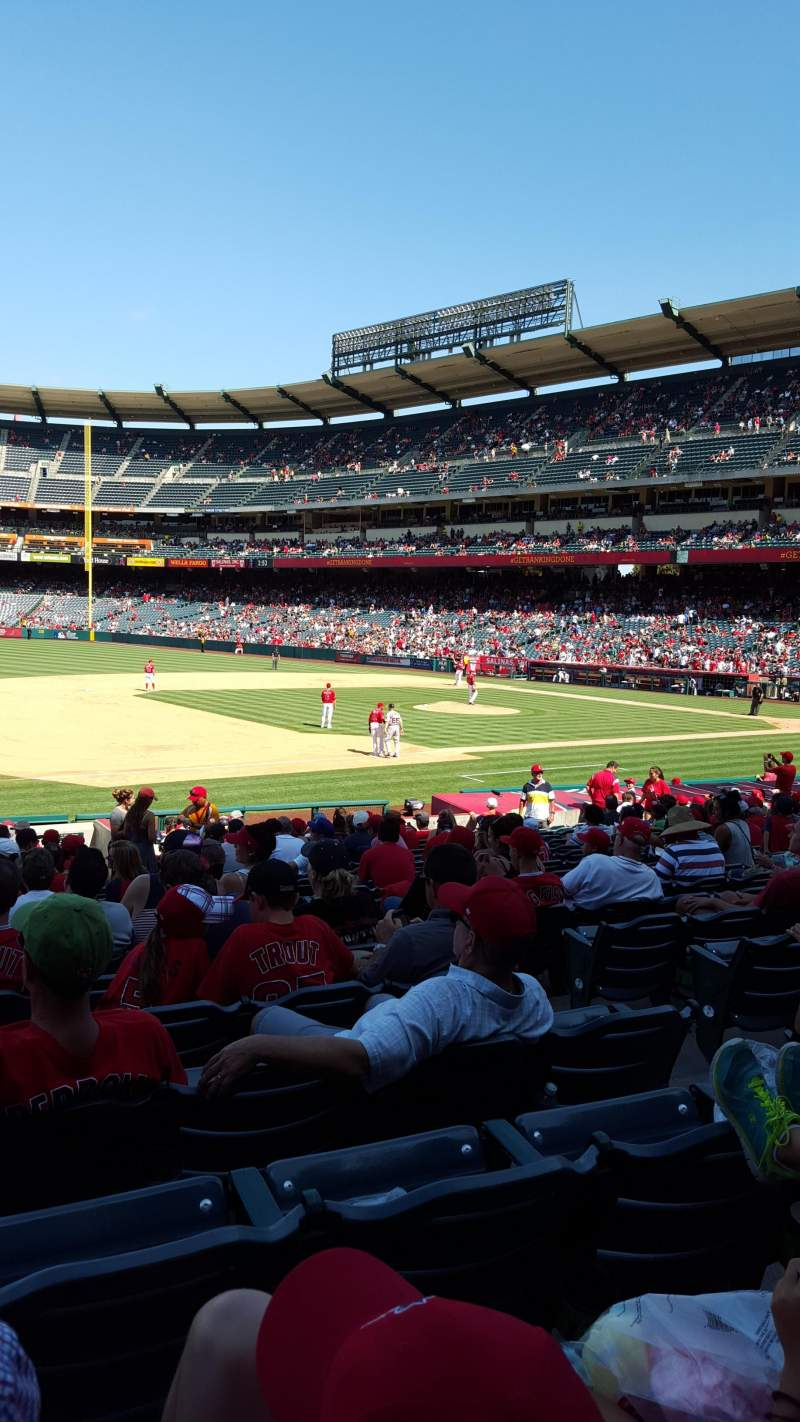Seating view for Angel Stadium Section 109 Row W Seat 14