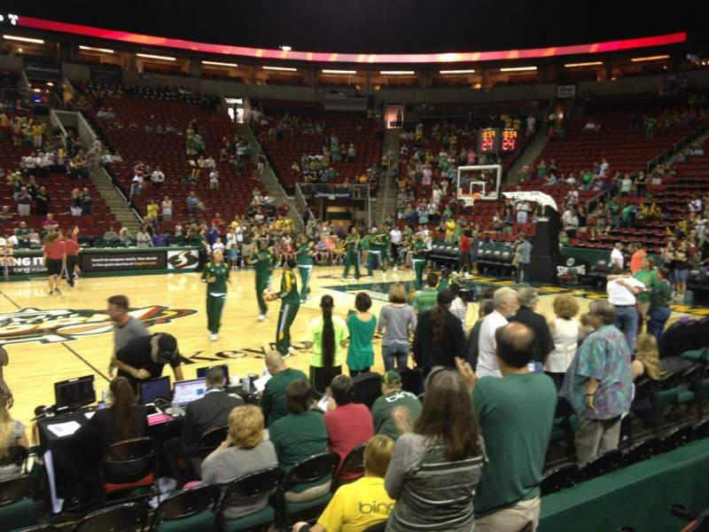 Seating view for KeyArena Section 128 Row 4 Seat 7