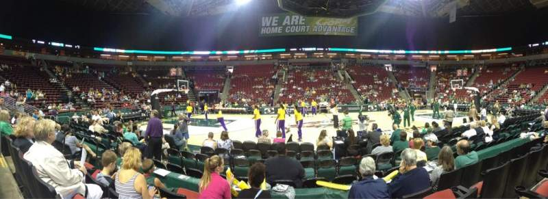 Seating view for KeyArena Section 128 Row 4 Seat 8