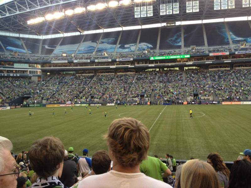 Seating view for Centurylink Field Section 109 Row M Seat 5