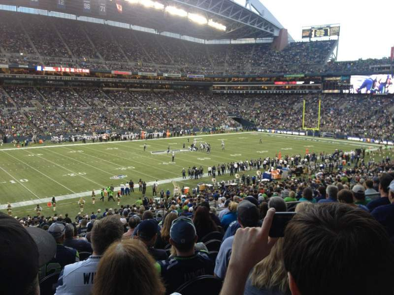 Seating view for Centurylink Field Section 239 Row N Seat 10
