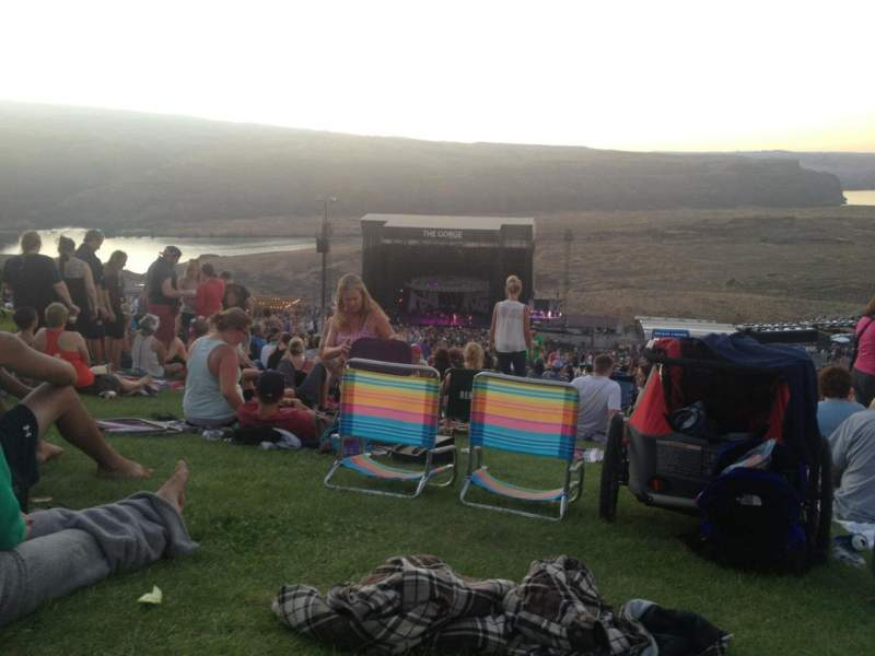 Seating view for Gorge Amphitheatre Section GA Row Lawn