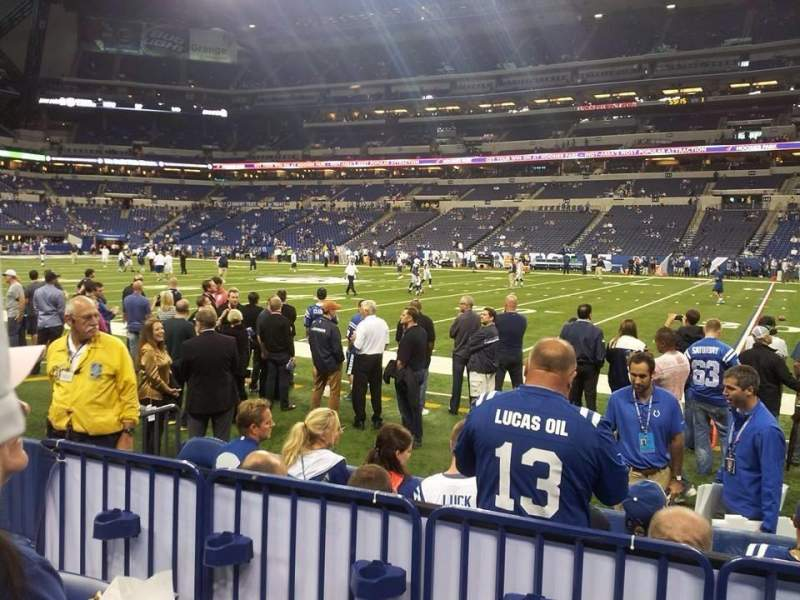 Seating view for Lucas Oil Stadium Section 110 Row 3 Seat 15