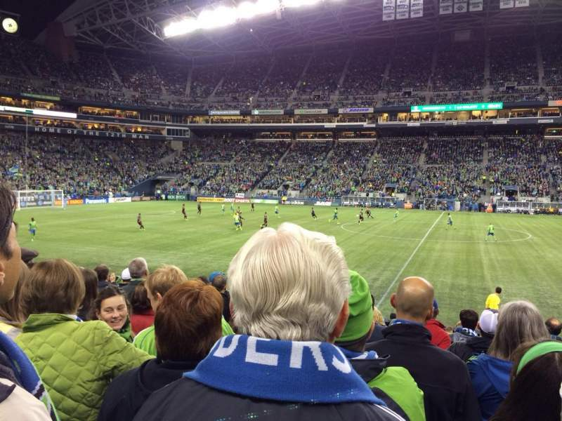 Seating view for CenturyLink Field Section 109 Row M Seat 6