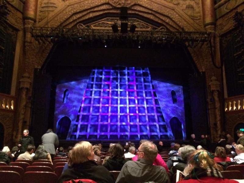 Seating view for 5th Avenue Theatre Section Lower Center Row P Seat 106
