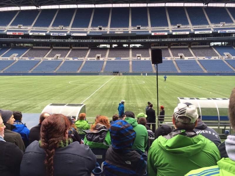 Seating view for Centurylink Field Section 135 Row I Seat 3