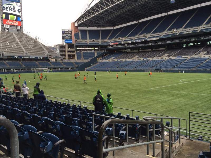 Seating view for CenturyLink Field Section 130 Row I Seat 14