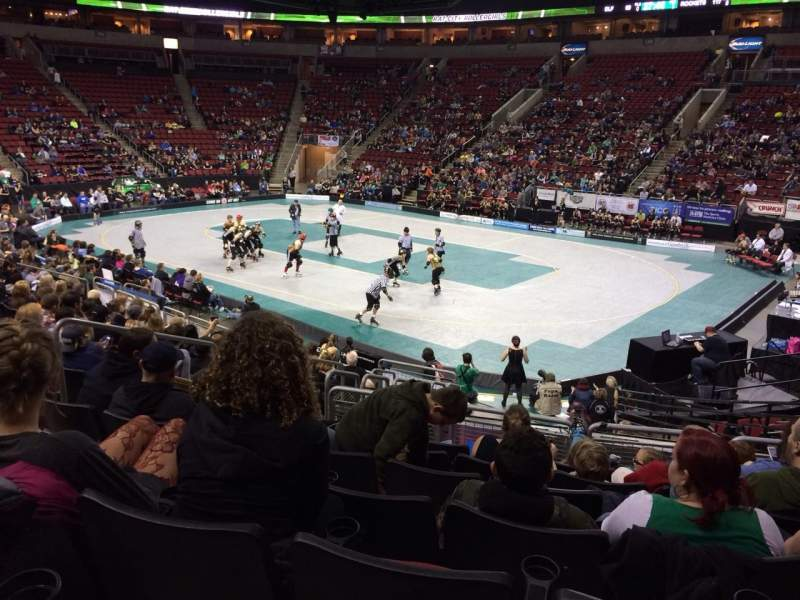 Seating view for KeyArena Section 117 Row 15 Seat 7