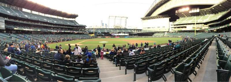 Safeco Field, section: 124, row: 17, seat: 1