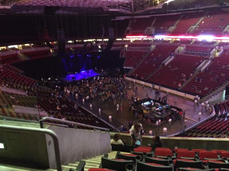 Seating view for KeyArena Section 204 Row 10 Seat 4
