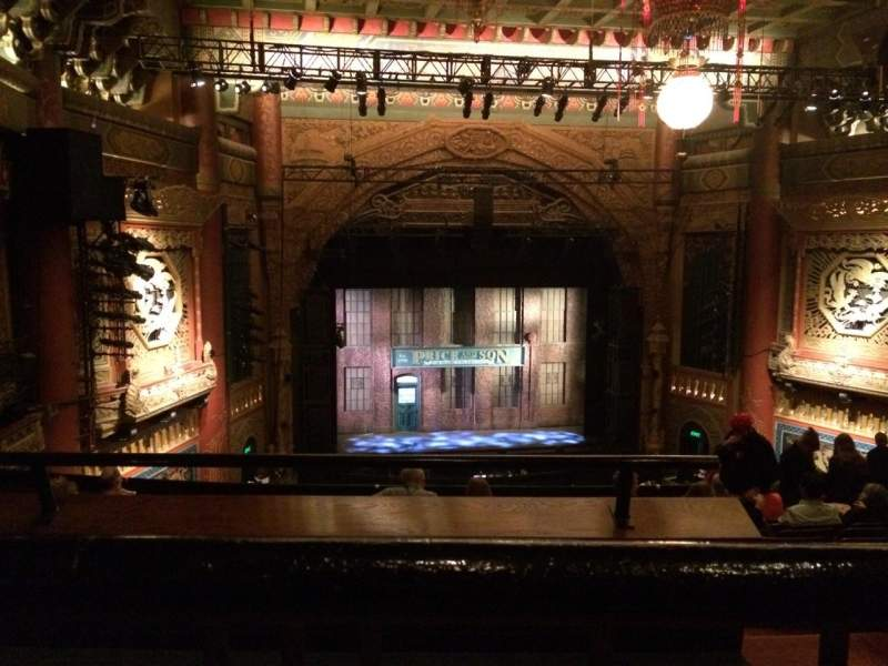 Seating view for 5th Avenue Theatre Section Upper Left Row K Seat 9