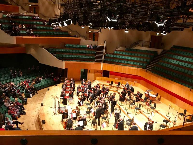 Seating view for St David's Hall Section Tier 7 Row C Seat 6