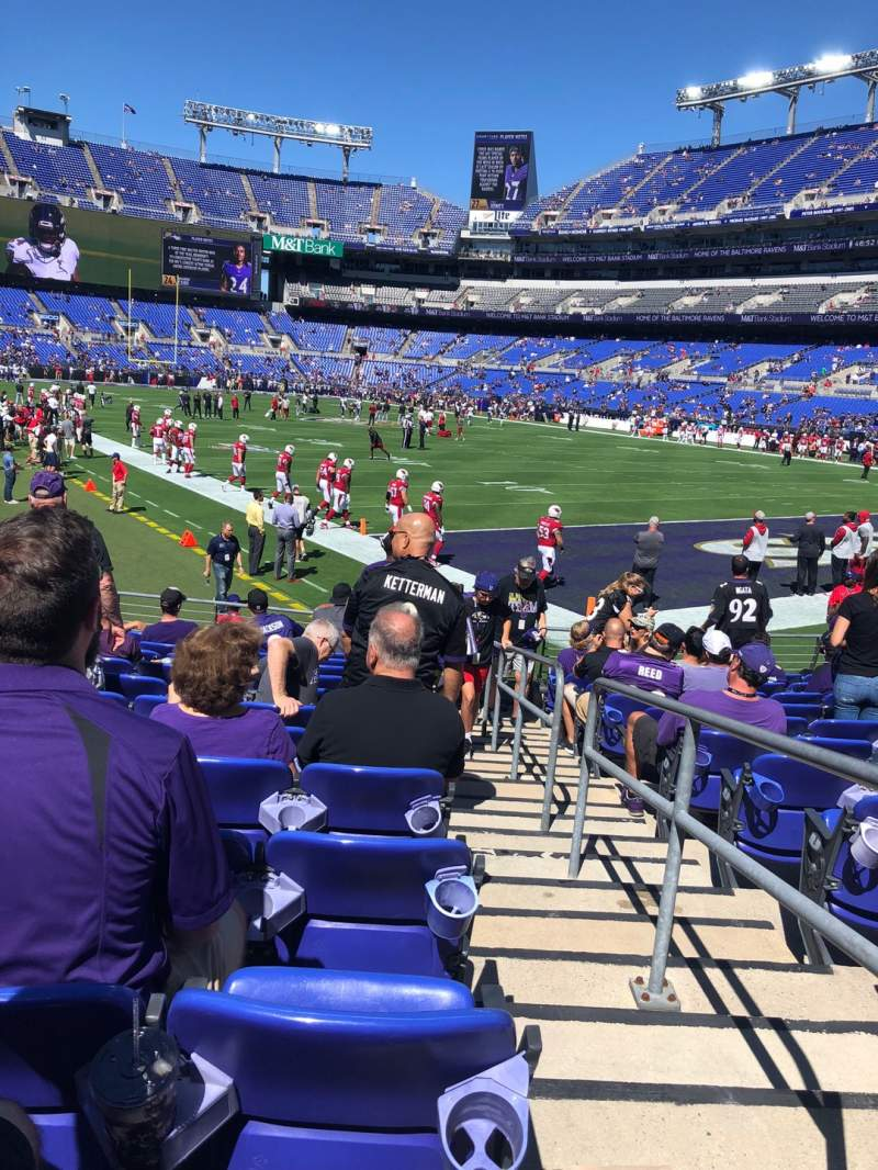 Seating view for M&T Bank Stadium Section 119 Row 12 Seat 1 And 2