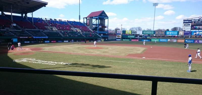 Seating view for McCoy Stadium Section 1 Row B Seat 13