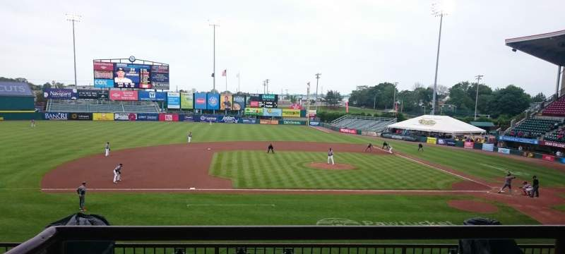 Seating view for McCoy Stadium Section 11 Row BB Seat 8