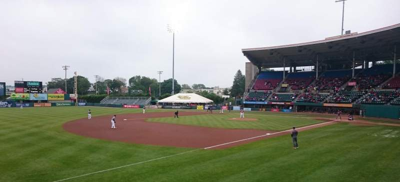 Seating view for McCoy Stadium Section 14 Row D Seat 25