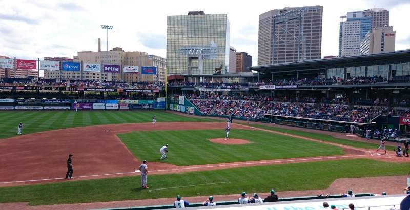 Seating view for Dunkin' Donuts Park Section 116 Row S Seat 4