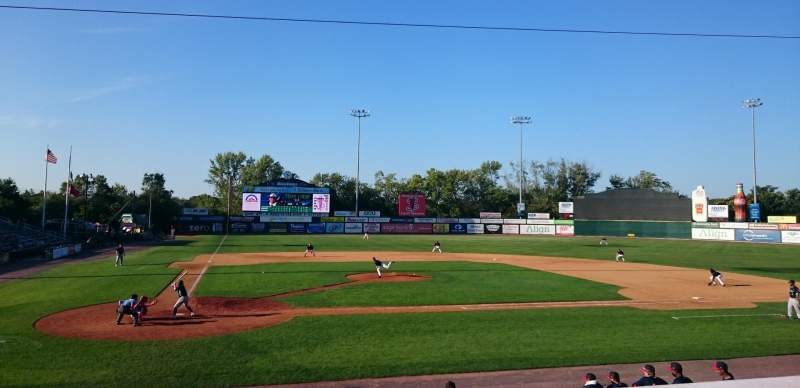 Seating view for LeLacheur Park  Section PRM108 Row P Seat 9