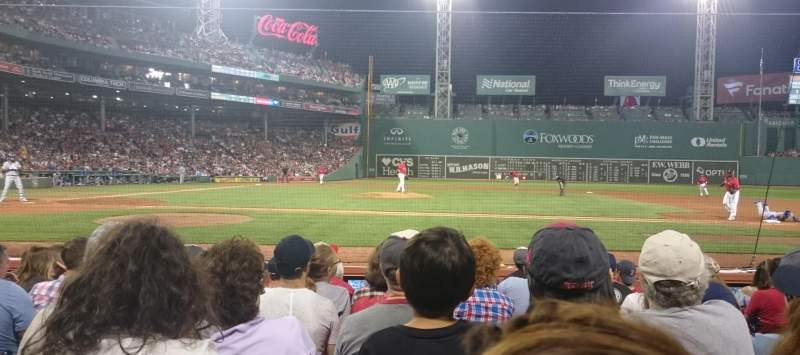 Fenway Park, section: Field Box 31, row: F, seat: 3