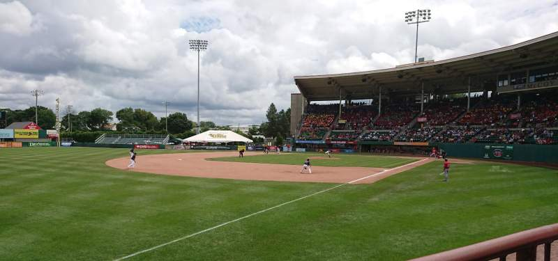 Seating view for McCoy Stadium Section 15 Row A Seat 16