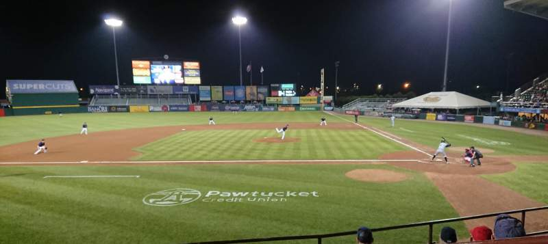 Seating view for McCoy Stadium Section 10 Row F Seat 1