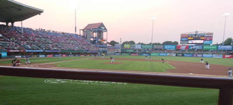 Seating view for McCoy Stadium Section 2 Row A Seat 15