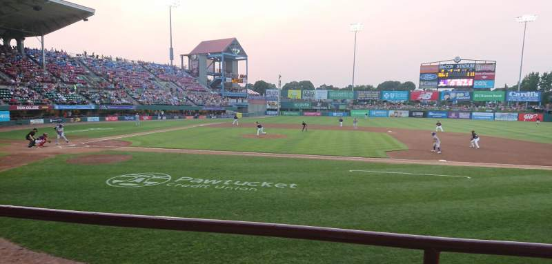 Seating view for McCoy Stadium Section 2 Row B Seat 15