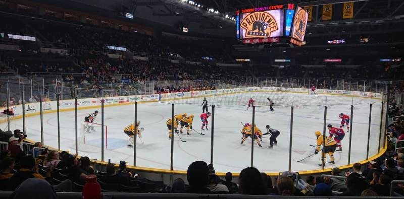 Seating view for Dunkin' Donuts Center Section 113 Row B Seat 8