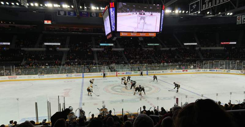 Seating view for Dunkin' Donuts Center Section 123 Row G Seat 4