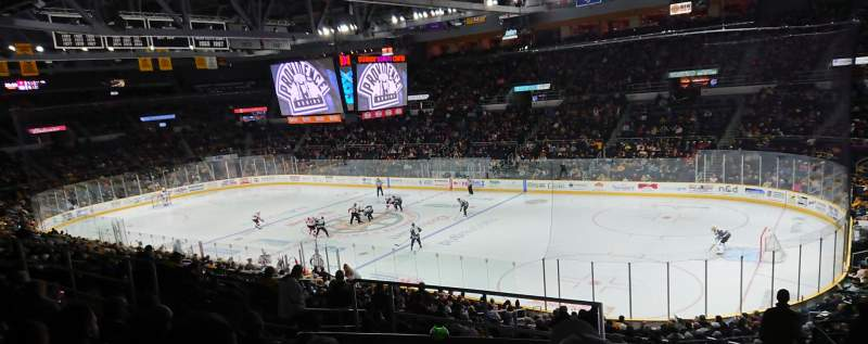Seating view for Dunkin' Donuts Center Section 227 Row G Seat 8