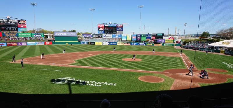 Seating view for McCoy Stadium Section 9 Row H Seat 5
