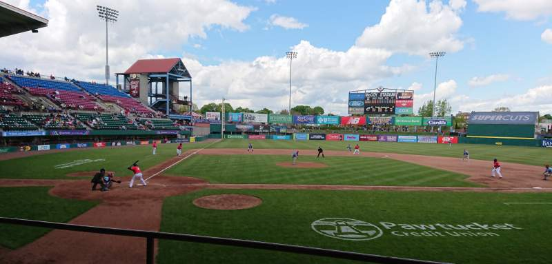 Seating view for McCoy Stadium Section 4 Row C Seat 8