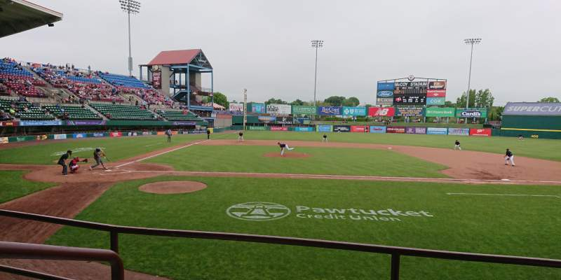 Seating view for McCoy Stadium Section 3 Row C Seat 15