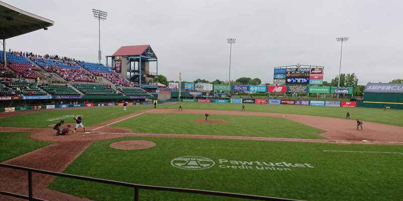 Seating view for McCoy Stadium Section 3 Row D Seat 16
