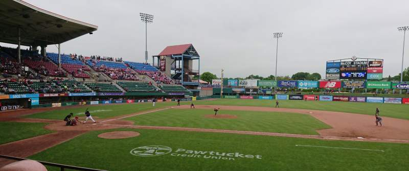 Seating view for McCoy Stadium Section 3 Row D Seat 1