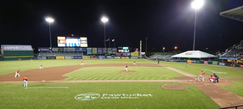 Seating view for McCoy Stadium Section 10 Row F Seat 5