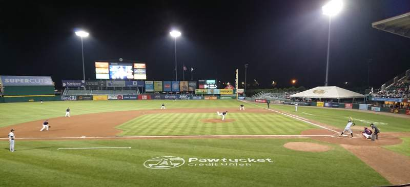 Seating view for McCoy Stadium Section 10 Row F Seat 8