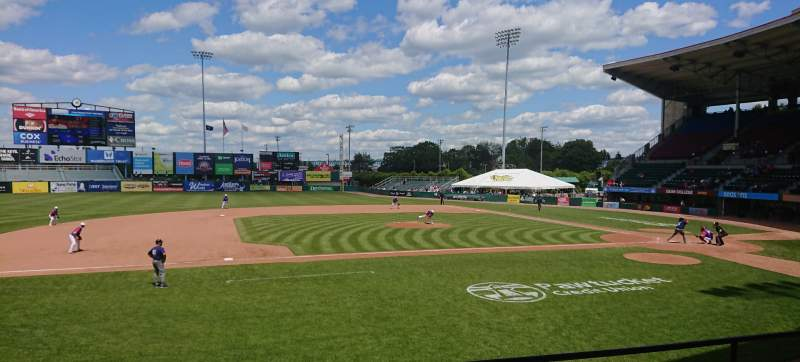 Seating view for McCoy Stadium Section 11 Row D Seat 16